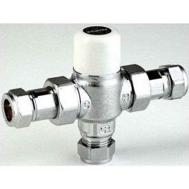 Intamix Thermostatic Mixing Valve 22mm 40022CEM TMV2/TMV3 with Check Valves
