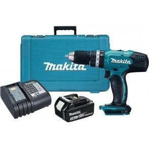 Makita DHP453SF 18v LXT Combi Drill with 1no 3.0Ah Battery & 1no DC18SD Charger