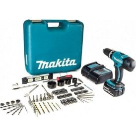 Makita DHP453SFTK LXT 18V 3.0Ah Cordless Combi Drill Kit with 101 Piece Bit Set