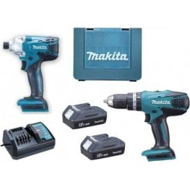 Makita DK18015X1 G Series 18v 2 Piece Comi Drill and Driver Set