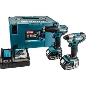 Makita DLX2221J 18v LXT 2 Piece Brushless Drill Driver Kit