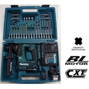 Makita HR166DSAE1 10.8V Brushless Rotary Hammer CXT And Accessory Set
