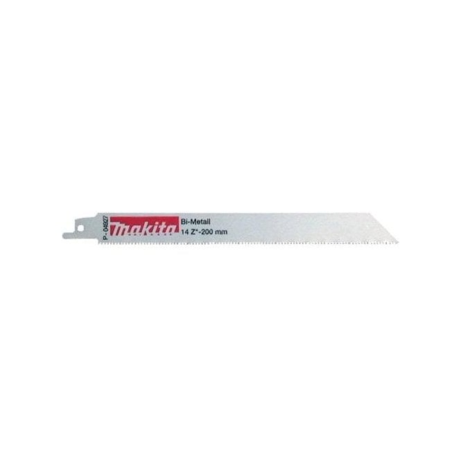 Makita Reciprocating Saw Blades - Metal 200mm (Pack of 5) P-04927