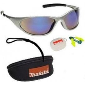 Makita Safety Glasses Silver Frame P-66385