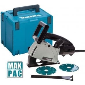 Makita SG1251J 125mm Wall Chaser, 2 x Diamond Discs, MakPac 4