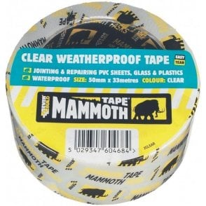 Mammoth Clear Weatherproof Tape 50mmx33m