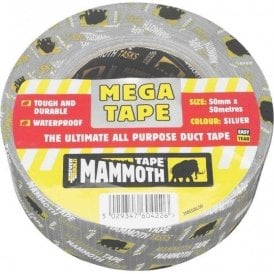 Mammoth Mega All Purpose Tape 50mmx50m Silver