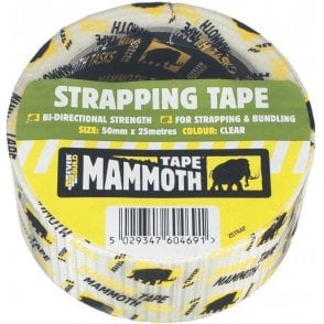 Mammoth Strapping Tape 50mmx25m Clear