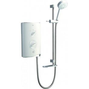 Mira Sport Thermostatic 9.0kW White & Chrome