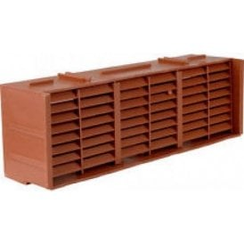 MV250 Plastic Airbrick Terracotta (6000mm2 ventilation area)