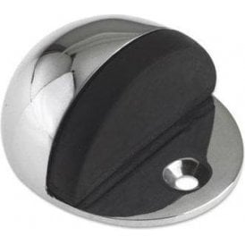 Oval Door Stop. Polished Chrome Finish J34033