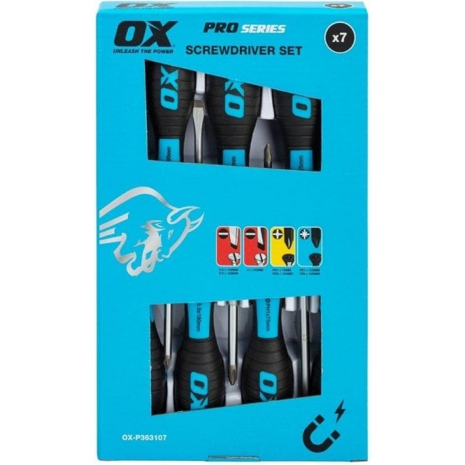 OX PRO 7 Piece Screwdriver Set OX-P363107