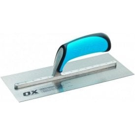OX PRO CARBON STEEL PLASTERERS TROWEL - 115 X 457MM OX-P010918