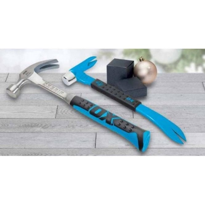Ox Pro Claw Hammer & Claw Bar Twin Pack