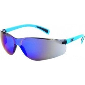 OX SAFETY GLASSES - BLUE MIRROR OX-S241703