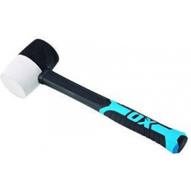 OX Trade Fibreglass Handle Combination Rubber Mallet - 16oz T081916