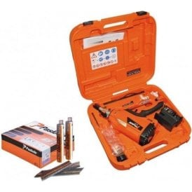 Paslode IM350+ Li Ion Framing Nailer (905900) Kit  90mm Nail Fuel Pack (141234) & Additional Lithium Battery