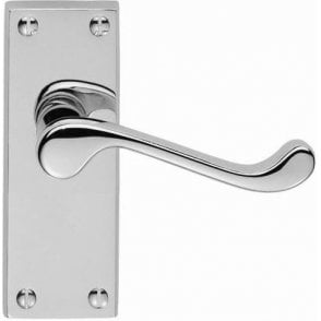 Picasso Victorian Scroll Lever Latch Door Handles (Pair) Polished Chrome Finish J34101