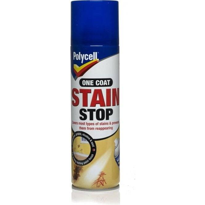 Polycell One Coat Stain Stop Aerosol Spray 250ml