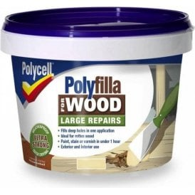Polycell Polyfilla 2 Part Wood Filler Large Repair Natural 750mm 2 x 375g
