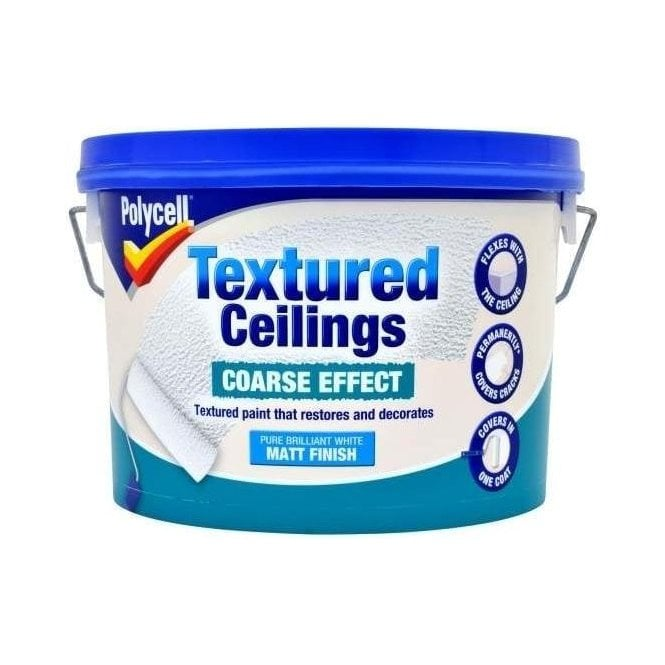 Polycell Textured Ceilings Course Effect Matt 2.5 Litre