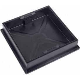 Recessed Square to Round Block Paving Manhole Cover & Frame CD300SR 300x300mm