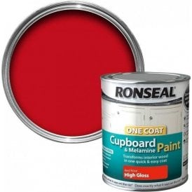 Ronseal Red Rose Gloss Cupboard Paint 750ml