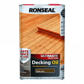 Ronseal Ultimate Protection Decking Oil Dark Oak 5 Litre 37295