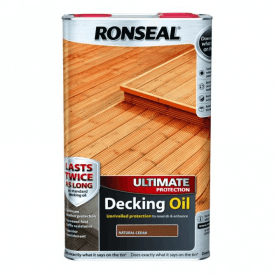 Ronseal Ultimate Protection Decking Oil Natural Cedar 5 Litre 37298