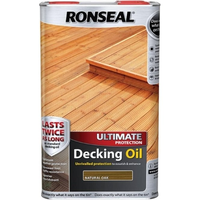 Ronseal Ultimate Protection Decking Oil Natural Oak 5 Litre 37299