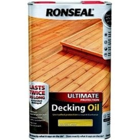 Ronseal Ultimate Protection Decking Oil Natural Pine 5 Litre 37300