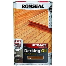 Ronseal Ultimate Protection Decking Oil Teak 5 Litre 37296