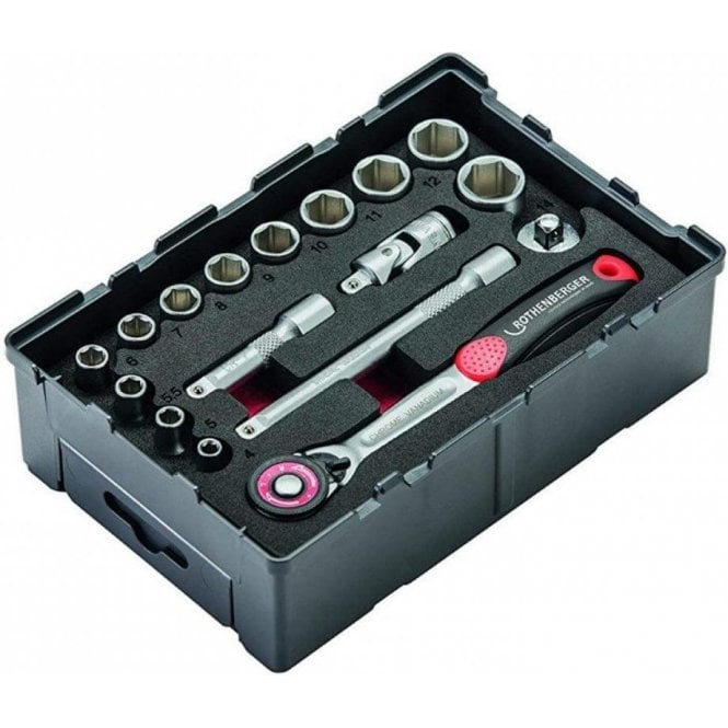 "Rothenberger Socket Set 1/4"" (17 Piece)"