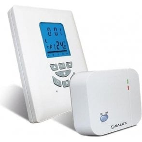 Salus T105RF Digital Programmable Room Thermostat with Delayed Start (Boiler Plus Compliant)