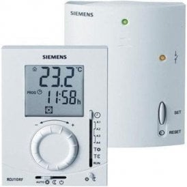 Siemens RDJ10RF/SET-GB RF Daily Digital Programmable Room Thermostat and Receiver