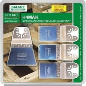Smart H4MAK Quick Release Multi Tool Blade Set of 4 Quick Fit Shank