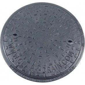 Solid Top Cast Iron Manhole Cover and Polypropylene Frame 450mm Pedestrian A15 CLKS 1657