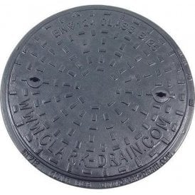 Solid Top Cast Iron Manhole Cover and Polypropylene Frame 450mm Pedestrian A15