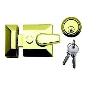 Standard Style Nightlatch Standard Case 89mm (Brass with Brass Cylinder)
