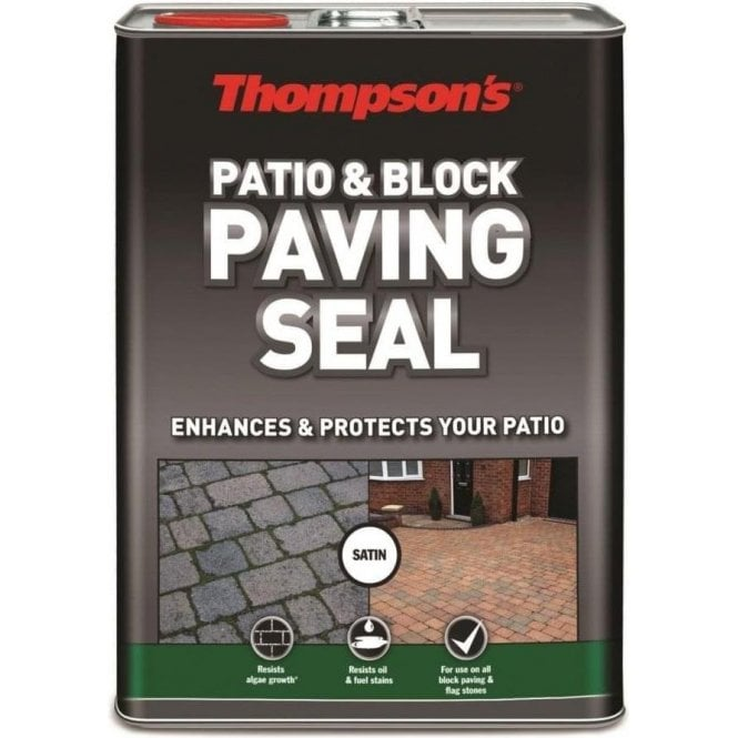 Thompsons Patio & Block Paving Seal Satin Finish 5L 36313