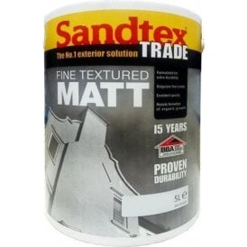 Trade Fine Textured Masonry Paint Matt 5L Various Colours