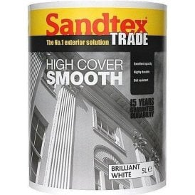 Trade High Cover Smooth Masonry Paint 5L Various Colours