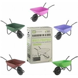 Wheel Barrow in a Box 90L Polypropylene Puncture Proof Tyre