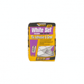 White Set Flexiplus Floor and Wall Tile Adhesive & Grout White 20kg